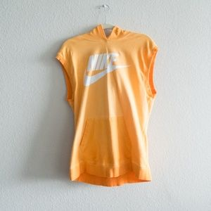 Nike Women's Sleeveless Hoodie Orange Size Large